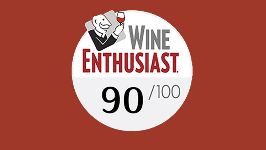 Wine Enthusiast : 90 pts for Domaine Harmonie des Arpents