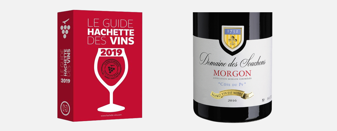 A MENTION IN THE 2019 HACHETTE WINE GUIDE FOR DOMAINE DES SOUCHONS COTE DU PY 2016 !